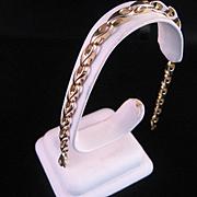 Vintage 14 K Yellow Gold Heavy Link Bracelet