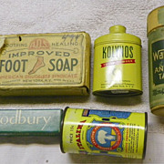 SALE SALE: HBA Drugstore Items - groups- Soap-Powder-Dentals-Laxative - Vintage
