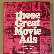 REDUCED SALE: Those Great Movie Ads - Non-Fiction Book - 1972