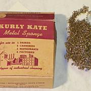 REDUCED SALE: Kurly Kate Stainless Metal Sponge - Vintage 1930's-1940's