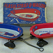 REDUCED Flash Strat-O-Wagon Toy - pair - Wyandotte #261 - Vintage - 1 w/ Box