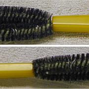 Oval Brush with yellow Bakelite Handle - Vintage