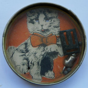 REDUCED $ALE: Hand Dexterity Puzzle Toy - White Cat & Mouse - Vintage- Japan