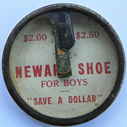 REDUCED $ALE: Hand Puzzle Toy - Newark Shoe - Vintage - Advertising