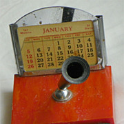 REDUCED Bakelite Desk Calendar - Pen Holder - Vintage