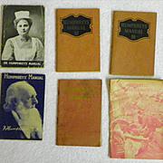 REDUCED $ALE: Humphreys - 6 Manuals & 1 Card - Vintage - ca 1920's or earlier
