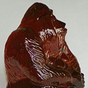 SOLD SALE: Crystal Orangutan - Kosta Glassworks - World Wildlife Fund