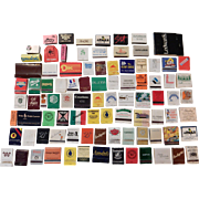 SOLD Matches - 92 different - ca. 1970s-90s -  books, boxes - used