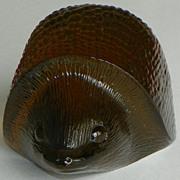SOLD SALE: Crystal Hedgehog - Kosta - World Wildlife Fund - 1976