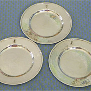 REDUCED $ALE: Sterling Silver Plates - group of 3 - Hand Wrought - Vintage - Randahl