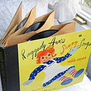 REDUCED SALE: Raggedy Ann's Sunny Songs - pair of 78rpm Albums - Frank Luther - Vintage