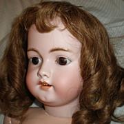 "REDUCED 27"" German Bisque Child Doll"