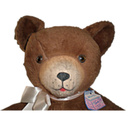"REDUCED 24"" Washable Teddy Bear by Trudy Toys With Tag"
