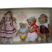 REDUCED 1984 Goldilocks & Three Bears by Steiff/Gibson