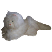 1986 Persian White Krystal Kitty Cat By Dakin