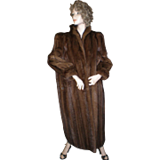 Delux Couture Mahogany Mink Coat - Male Pelts.