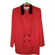 REDUCED Christopher Kent Red Wool Suit - Size 12