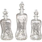 Kluk Kluk Danish Art Glass Decanters - Set of 3