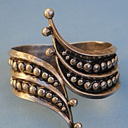 Mexican Silver Clamper Bracelet....Taxco S.E.