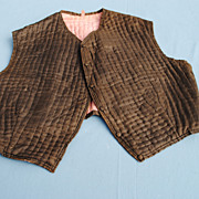REDUCED 19th c. Man's Quilted Silk Vest