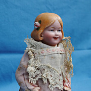 SALE Key-wind Mechanical Walking Doll With Goebel Character Bisque Head