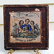 REDUCED Circa 1860 Mosaic Child's Toy....In 4 Languages