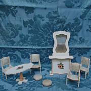 SALE 8 Piece Parlor Set Of Gottschalk Dollhouse Furniture Found In France