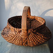 Large Buttocks Basket With Original Label From Lebanon,Ohio