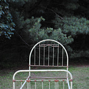 SALE Great French Iron Bed...With Heart Decoration