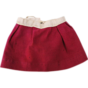 French Raspberry Red Wool Petticoat For A Bebe