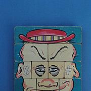 """Schoenhut Blocks """"Ole Million Face"""", Early 20th c."""