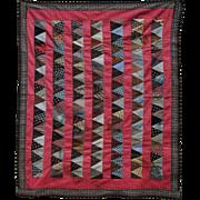 Circa 1890 Crib Quilt Top From Pennsylvania