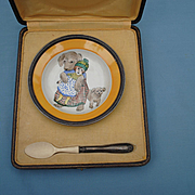 French Fantasy..Bebe's First Bowl and Spoon In Presentation Case