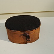 REDUCED French Fashion Wooden Hatbox Circa 1860