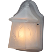 Unique Vintage All Glass Bungalow, Cottage, or Arts & Crafts Porch Light; 3 matching available