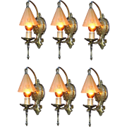 SINGLE ONLY Vintage Lincoln Storybook Wall Lighting Fixture Sconces 1930s