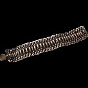 SALE Amazing Mexican Sterling Silver Link Bracelet Wide Vintage