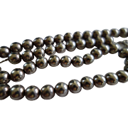 SALE Vintage Sterling Silver Bead on Chain 19 inches 34.3 Gms