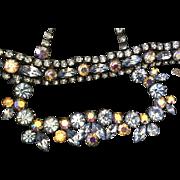 Signed Regency Rhinestone Necklace Bracelet Set