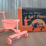 "Darling Vintage Pink Baby Stroller ""Just Like Mothers"" by Jeryco"