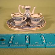 Miniature Flow Blue Doll Tea Set