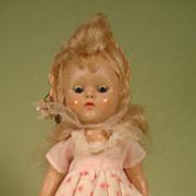 Vintage Vogue Ginny Hard Plastic Straight Legged Walker Painted Eyelashes
