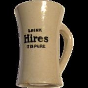 Vintage Handmade Hires Rootbeer Stoneware Advertising Mug