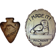 1950's  Philmont Ceramic Plaque and Slide