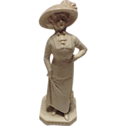 Wonderful Goebel Gibson Girl Bisque Figurine Match Holder