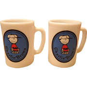 1969 Charlie Brown Milk Glass Coffee Mug - United Features Avon