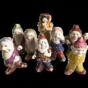 Snow White and the Seven Dwarfs Japan Bisque Dwarves George Borgfelt Co.