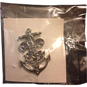 Sea Exploring Sea Scout Adult Hat Pin Screw Post Back Pin Boy Scout