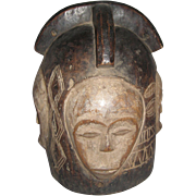 REDUCED African  Helmet Mask Fang Tribe Gabon