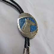 Native American Style Bolo Nickle Silver